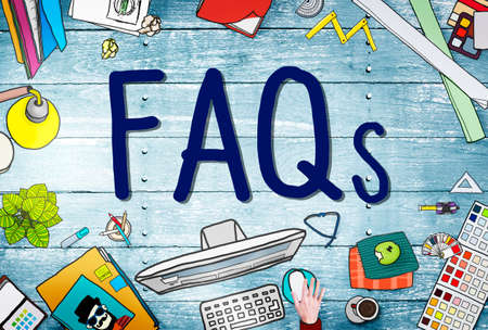 frequently: FAQS Frequently Asked Questions Information Concept