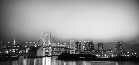 illuminated: Panaroma of illuminated Tokyo Night lights Concept