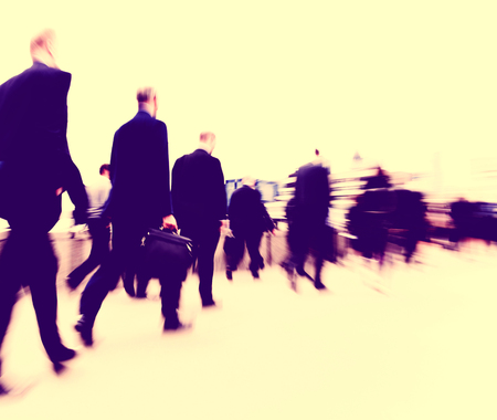 rush hour: Business People Commuter Cityscape Rush Hour Concept