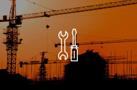 herramientas de mec�nica: Herramientas mec�nicos de equipo de Ingenier�a de Servicios Concepto