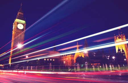 famous place: London Lights Clock Tower Famous Place Concept