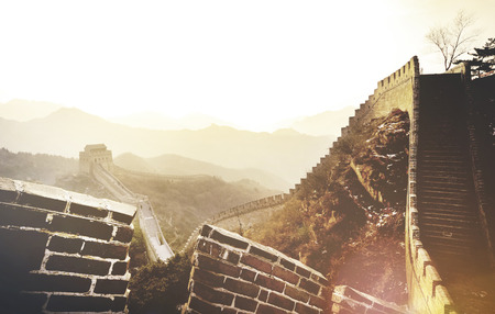 Great Wall China Ancient History Landmark Journey Concept