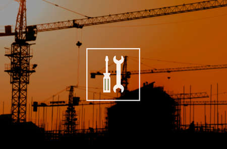 herramientas de mecánica: Herramientas mecánicos de equipo de Ingeniería de Servicios Concepto