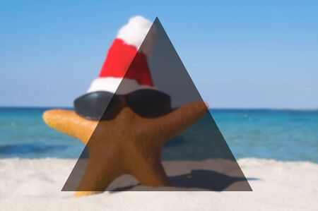 christmas tide: Summer Togetherness Friendship Triangle Copy Space Concept