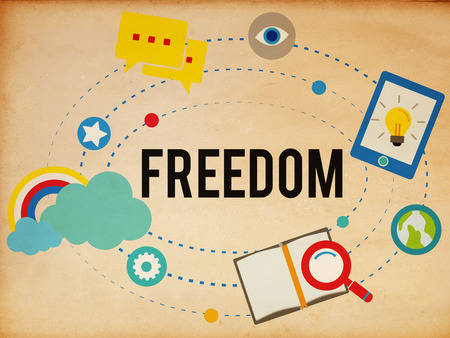 independently: Freedom Free Inspiration Emancipation Independence Concept