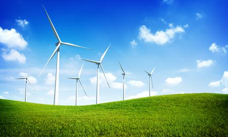 Turbine Green Energy Electricity Technology Concept Zdjęcie Seryjne