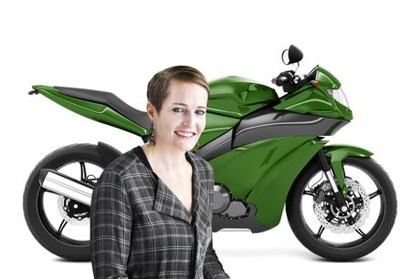 Motorbike Motorcycle Bike Roadster Transportation Concept Stock Photo
