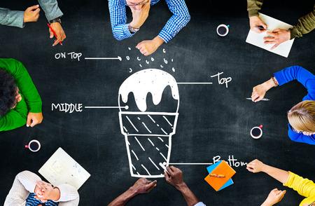 Ice Cream Command Order Leadership Concept Stock Photo