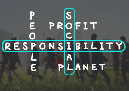 business building: Social Responsibility Reliability Dependability Ethics Concept