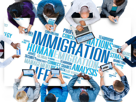 government: Immigration International Government Law Customs Concept