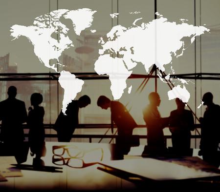 mapa mundi: World Global Cartography Globalization Earth International Concept