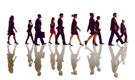 business briefcase: Business People Corporate Walking Team Concept