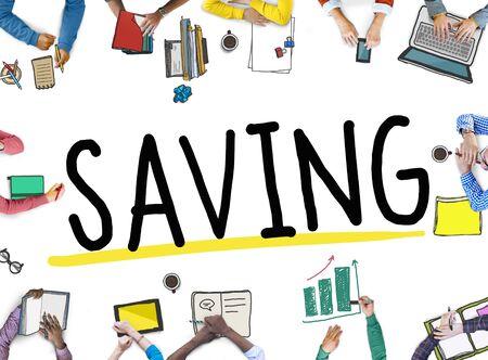 save money: Saving Save Money Finance Budget Banking Concept Stock Photo