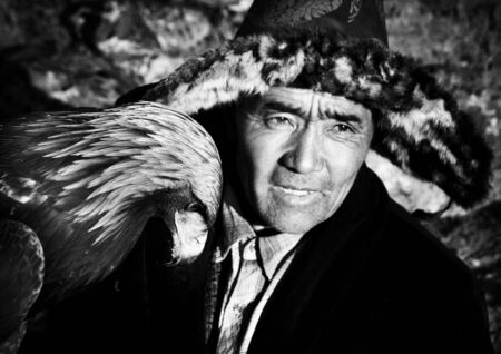 southeast asian ethnicity: Mongolian Man with Traditional Lifestyles Culture Concept Stock Photo