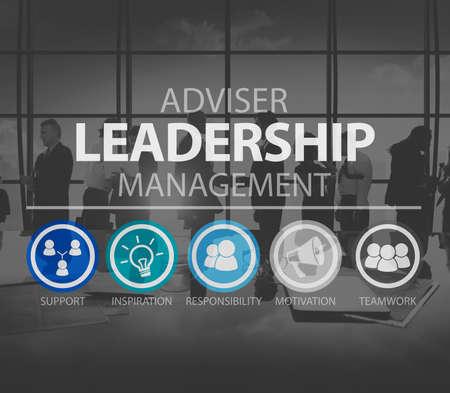 team leadership: Adviser Leadership Management Director Responsibility Concept