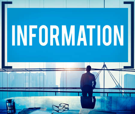 communications technology: Information Info Media Research Sharing Concept Stock Photo