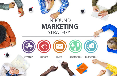 Inbound Marketing Strategy Advertisement Commercial Branding Concept Фото со стока
