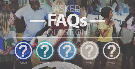reply: Frequently Asked Questions Asking Reply Response Concept Stock Photo