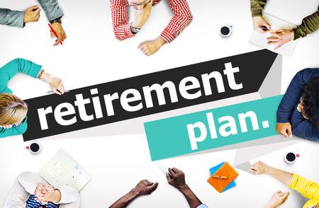 planeaci�n: Jubilaci�n Plan de Retiro de Planificaci�n Pension Concepto Foto de archivo