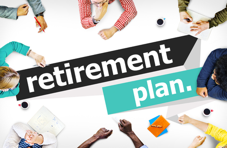 plan: Retirement Plan Retirement Planning Pension Concept Stock Photo
