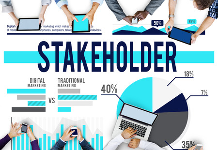 Stakeholder Business Marketing Finance Concept Stock Photo