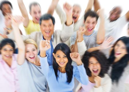Gruppe von Personen Gemeinschafts Konzept Erfolg Feiern