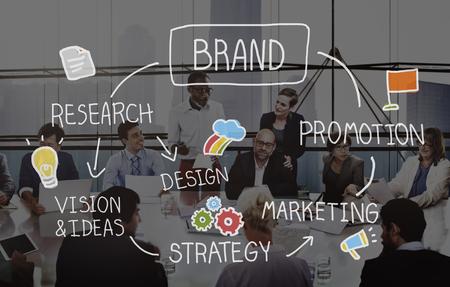 Brand Marketing Advertising Branding Design Trademark Concept 스톡 콘텐츠