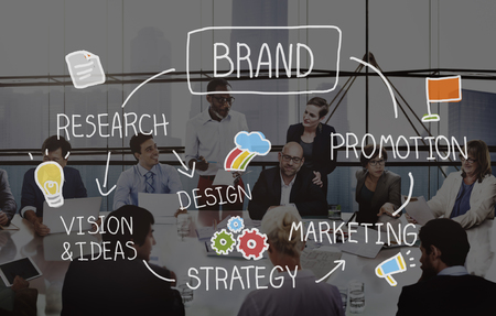 Brand Marketing Advertising Branding Design Trademark Concept Reklamní fotografie