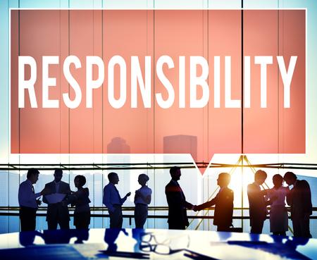 trustworthy: Responsibility Duty Obligation Job Trustworthy Concept