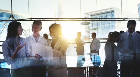 Business People Meeting Discussion Corporate Team Concept Banco de Imagens