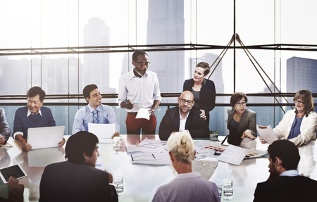 Gente de negocios Corporate Meeting Presentación Comunicación Concepto Foto de archivo - 46948233
