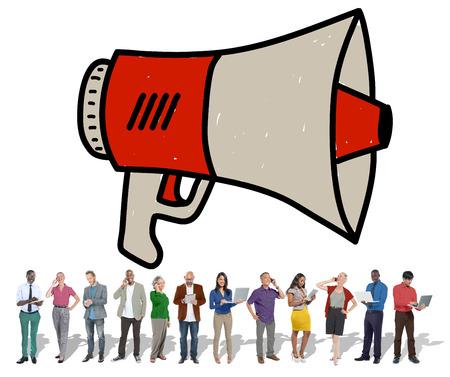 proclaim: Announcement Megaphone Proclaim Message Illustration Concept
