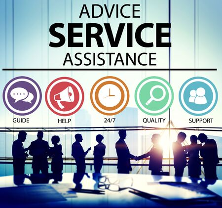 advies: Advice Service Assistance Customer Care Support Concept Stockfoto