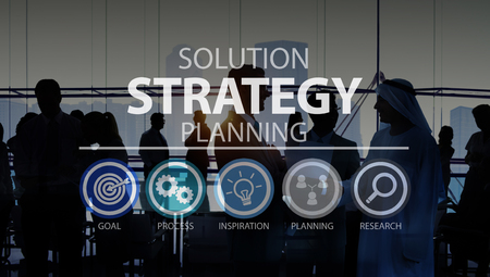 planning strategy: Solution Strategy Planning Business Success Target Concept