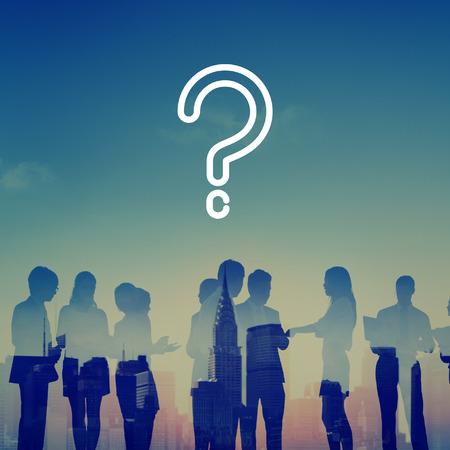 물음표 요구 혼란 생각 도움말 FAQ 개념 스톡 콘텐츠