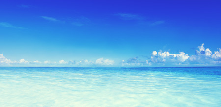 Paradise Sea Ocean Sky Blue Tropical Summer Vacation Concept Banque d'images