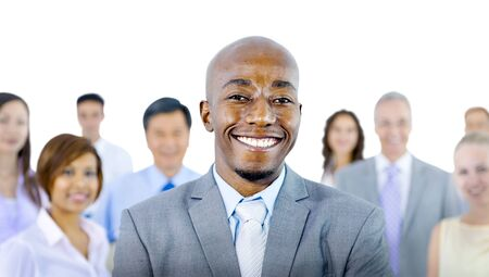 organised group: Large Group of Business People Confidence Concept Stock Photo