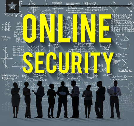 online privacy: Online Security Protection Privacy Data Concept