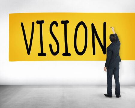 target thinking: Vision Strategy Palnning Target Direction Concept Stock Photo