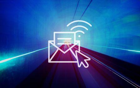 internet speed: Communication Online Messaging Hotspot Network Concept