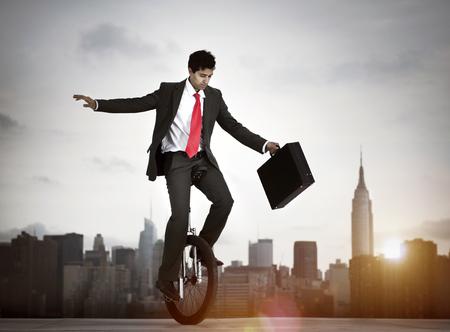 ニューヨーク市にリスクを取っての実業家。