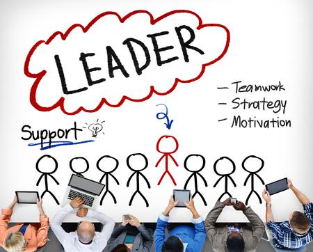 team leader: Leader Support Teamwork Strategy Motivation Concept