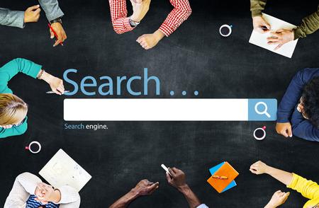 seo concept: Search Seo Online Internet Browsing Web Concept Stock Photo