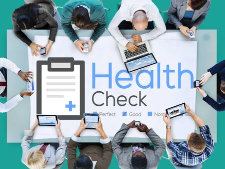 medical condition: Health Check Insurance Check Up Check List Medical Concept Stock Photo