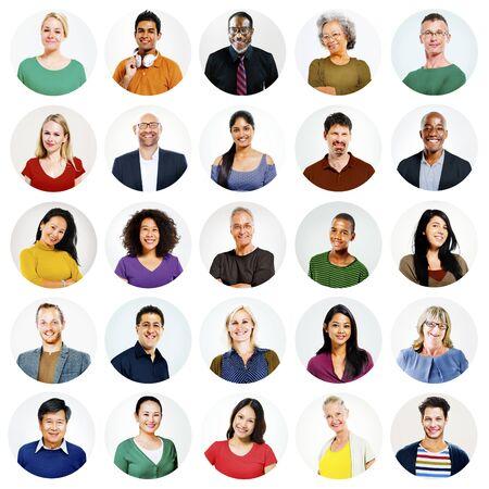 diversidad: Gente Diversos Multi variaci�n �tnica Concepto Casual Foto de archivo