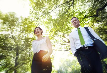 그린 비즈니스 사람들이 아이디어 영감 환경 개념 스톡 콘텐츠