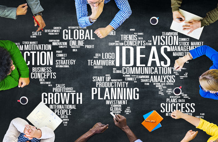 Global People Discussion Meeting Creativity Ideas Concept Stock Photo