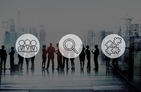 recursos humanos: Búsqueda de Recursos Humanos Reclutamiento Trabajo en equipo Concepto Corporativa Foto de archivo