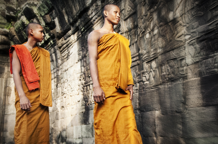 traditional culture: Culture Contemplating Monk Buddhism Traditional Concept