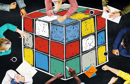 hardship: Puzzle Cube Game Cube Shape Intelligence Concept
